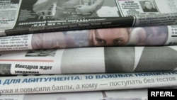 Generic – A photo of Ukrainian newspapers, Kyiv, 23Jun2009