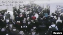 Здымак камэры назіраньня на станцыі «Купалаўская»