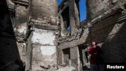 Разрушения в Иловайске