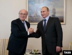 Блаттер и Путин, 2015 год