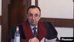 Armenia -- Constitutional Court Chairman Hrayr Tovmasian presides over a court hearing, Yerevan, February 11, 2020.