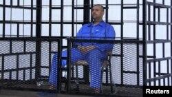 Լիբիա - Սեյֆ ալ-Իսլամ Քադաֆին Զինթանի դատարանի դահլիճում, մայիս, 2014թ․
