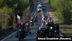 """Vladimir Putin și """"Lupii nopții"""" la Sevastopol, 11 august 2019"""