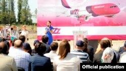 ვერა ქობალია. ქუთაისის აეროპორტი, 4 ივნისი 2012 წ.