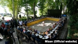 "Mizan news agency reported that 45 ambassadors in Tehran visited notorious Evin prison in Tehran and ""were satisfied from the situation of the prison."" July 05, 2017."