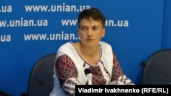 Украинская военнослужащая Надежда Савченко. Киев, 2 августа 2016 года.