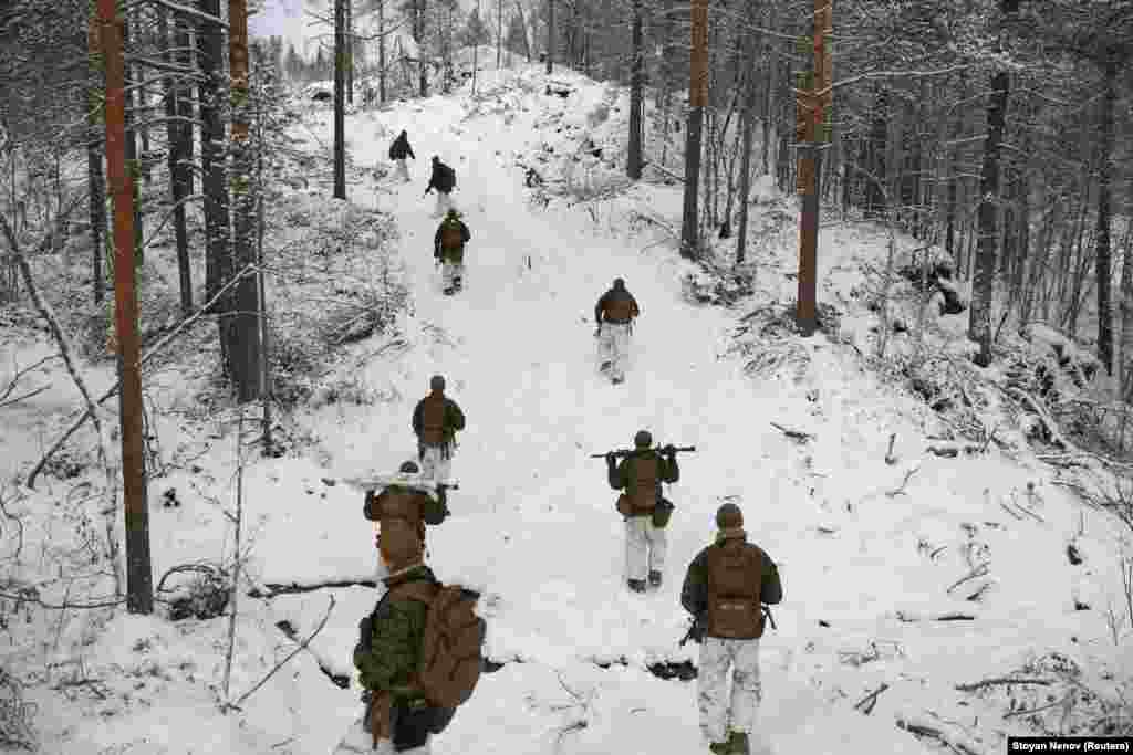 U.S. Marines during the Reindeer 2 joint exercise in October.