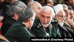 سرتیپ سپاه پاسداران همدانی در میان دیگر فرماندهان این نیروی نظامی در تهران