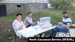 Голосование на придомовой территории в Сочи