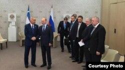 Ислам Каримов менен Владимир Путин. Уфа