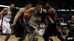 Four of the Eastern Conference Quarterfinals during the 2010 NBA Playoffs at the Bradley Center on 2