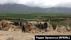 One of the stone quarries in Daghestan's Lavasha district where men claiming to be slave laborers were rescued by an NGO in May 2013.