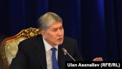 Президент КыргызстанаАлмазбек Атамбаев.