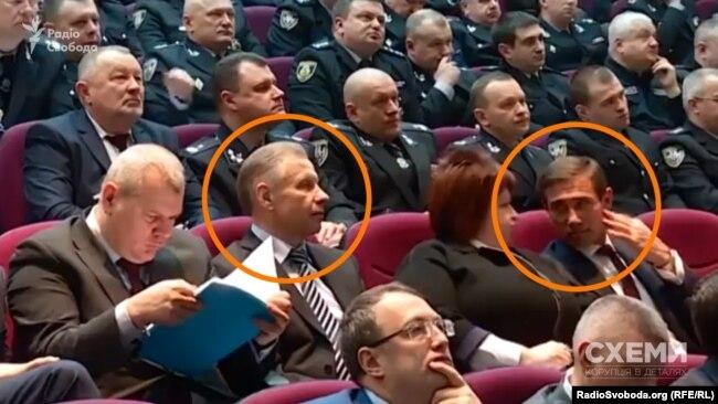 Сергій Чеботар та Ігор Котвіцький сіли в одному ряду на колегії МВС