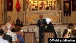 Министр диаспоры Армении Мхитар Айрапетян встречается представителями армянской общины Дамаска, 20 сентября 2018 г. (Фотография Министерства диаспоры Армении)