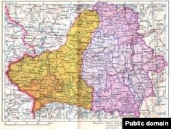 Мапа БССР, 1940 год