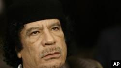Свергнутый ливийский лидер Муамар Каддафи
