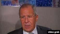 Russian Foreign Minister Sergei Lavrov said there is no proof of Russian meddling in the U.S. election