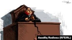Гундуз Агаевтың карикатурасы.