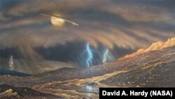 Površina planine Titan