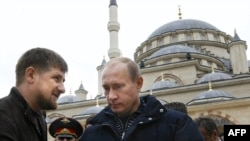 Vladimir Putin's (right) strategy for bringing security to the North Caucasus has left the Kremlin reliant on Chechnya's Ramzan Kadyrov.