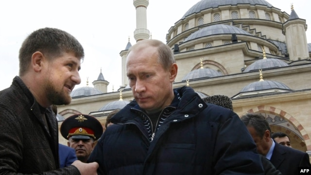 "Kadyrov has said all Russians who oppose Putin are ""traitors."" (file photo)"