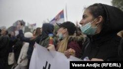 Протестувальники у Белграді, 13 квітня 2019