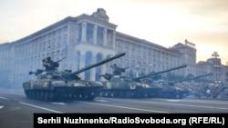 Репетиція військового параду до Дня Незалежності України, Київ, 19 серпня 2016 року