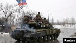 Донецкіде жүрген ресейшіл сепаратистер. 22 қаңтар 2015 жыл.