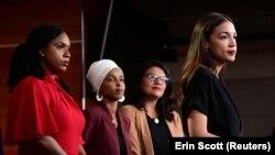 Kongresistet Alexandria Ocasio-Cortez e Nju Jorkut,Ilhan Omar nga Minesota, Ayanna Pressley nga Massachusetts dhe Rashida Tlaib nga Michigan