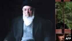 تصویری از برهانالدین ربانی، رئیس جمهوری پیشین افغانستان و میانجیگر صلح.