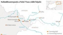 Felső-Tisza-vidék szennyeződés térkép