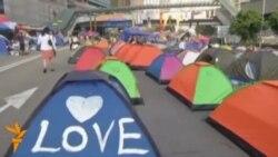 Гонконгте баррикада құрылды