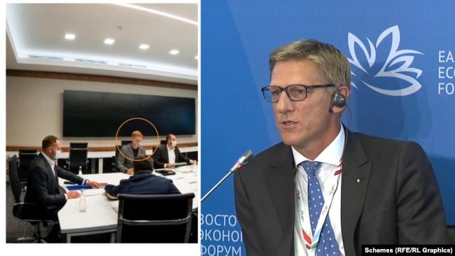 Серед присутніх увагу журналістів привернув австрієць, який представляв проєкт в ОП – Гернот Ляйтнер