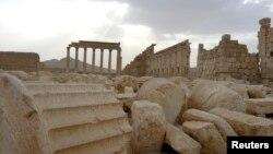 Пальмира қаласындағы содырлар қиратқан Бәл ғибадатханасының орны. Сирия, 31 тамыз 2015 жыл.