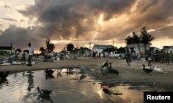 Рынок в одном из городов Мозамбика
