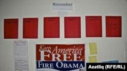 Уэст Палм Бичта (Флорида) Митт Ромни өчен тавыш бирергә үгетләүчеләр үзәге көннәрне саный