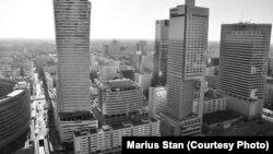 Pamje nga kryeqyteti Varshavë në Poloni