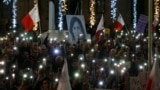 Demonstration to demand justice over the murder of journalist Daphne Caruana Galizia in Valetta