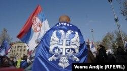 Sa protesta radikala, Beograd 2012.