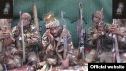 A szélsőséges iszlamista Boko Haram harcosai Nigériában