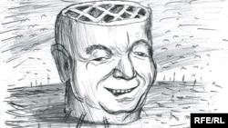 Сиёсий карикатура муаллифи Шуҳрат Бобожон.