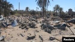 Pamje pas sulmit ajror amerikan në Sabratha të Libisë kundër kampit stërvitor të grupit militant Shteti Islamik