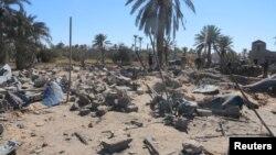 После американского авиаудара по боевикам в Ливии (Сабрата, 19 февраля 2016 года)