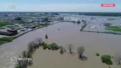 ABŞ-ın Midlend şəhərini 3 metrlik su basıb