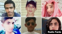 Some teenagers who were killed in Iran's November protests. FILE PHOTO