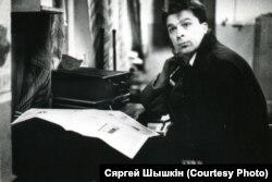 Сяргей Шышкін у часы рэдагаваньня «Могилев Times» (фота з архіву Шышкіна)