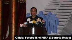 جسد یوسف رشید رییس اجرایی فیفا یا بنیاد انتخابات آزاد و عادلانه افغانستان