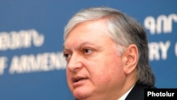 Armenia -- Foreign Minister Edward Nalbandian speaks at a news conference, Yerevan, 14Jun25011