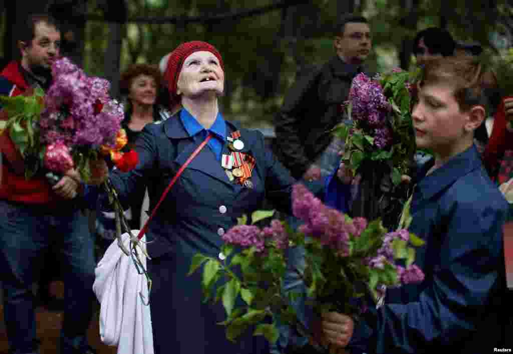 Адзначэньня Дня Перамогі ў Тбілісі, 9 траўня.